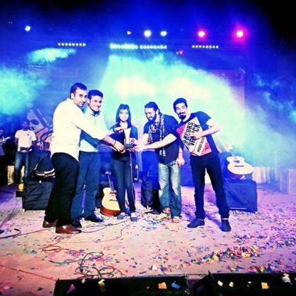 Receiving Award in Music Mela 2014